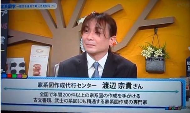 【テレビ出演】家系図学① 2019/04/08 ゲツ→キン eo光テレビ